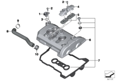 Goto diagram: BMW Classic Motorrad Modell F 800 GS Adve. (0B05, 0B15)( ECE ), Category 11.12 Cylinder head cover/Mounting parts :: Diagram: 11_4705
