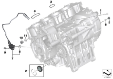 Goto diagram: BMW Classic Motorbike Model S 1000 RR 10 (0507,0517)( ECE ), Category 11.11 Engine housing mounting parts :: Diagram: 11_4748