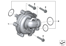 Goto diagram: BMW Classic Motorbike Model K 1600 GTL 17 (0F02, 0F12)( USA ), Category 11.51 Coolant pump :: Diagram: 11_4789
