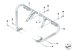 Goto diagram: BMW Classic Motorrad Modell F 700 GS 17 (0B06, 0B16)( USA ), Category 11.84 Protection bar,mountng parts,authorities :: Diagram: 11_5049
