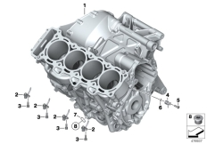 Goto diagram: BMW Classic Motorbike Model S 1000 RR 10 (0507,0517)( ECE ), Category 11.11 Engine housing :: Diagram: 11_5050