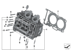 Goto diagram: BMW Classic Motorrad Modell C 650 Sport 16 (0C04, 0C14)( USA ), Category 11.12 Cylinder Head/Mounting parts :: Diagram: 11_5058