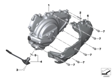 Goto diagram: BMW Classic Motorrad Modell C 650 Sport 16 (0C04, 0C14)( USA ), Category 11.14 Engine housing cover, left :: Diagram: 11_5059