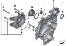 Goto diagram: BMW Classic Motorrad Modell C 650 Sport 16 (0C04, 0C14)( USA ), Category 11.14 Housing cover / coolant pump, right :: Diagram: 11_5060