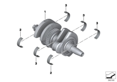 Goto diagram: BMW Classic Motorrad Modell C 650 Sport 16 (0C04, 0C14)( USA ), Category 11.21 Crankshaft with bearing shells :: Diagram: 11_5064