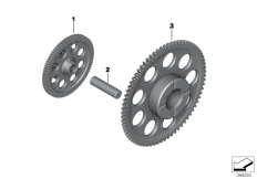Goto diagram: BMW Classic Motorrad Modell C 650 Sport 16 (0C04, 0C14)( USA ), Category 11.26 Double gear / intermediate gear :: Diagram: 11_5067