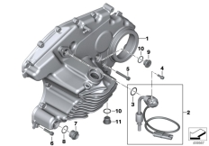 Goto diagram: BMW Classic Motorrad Modell C 650 Sport 16 (0C04, 0C14)( USA ), Category 11.14 GEARBOX COVER,GASKET AND VARIOUS BOLTS :: Diagram: 11_5135