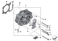 Goto diagram: BMW Classic Motorrad Modell R 1200 RS (0A05, 0A15)( USA ), Category 11.12 Cylinder head :: Diagram: 11_5149