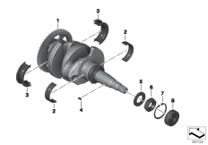 Goto diagram: BMW Classic Motorrad Modell R 1200 RS (0A05, 0A15)( USA ), Category 11.21 Crankshaft with bearing :: Diagram: 11_5150