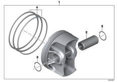 Goto diagram: BMW Classic Motorrad Modell R 1200 R (0A04, 0A14)( ECE ), Category 11.25 Piston with rings and pin :: Diagram: 11_5152