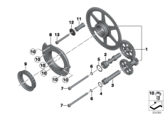 Goto diagram: BMW Classic Motorrad Modell R 1200 RS (0A05, 0A15)( USA ), Category 11.26 Starter overrunning clutch :: Diagram: 11_5167