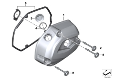 Goto diagram: BMW Classic Motorrad Modell R 1200 RS (0A05, 0A15)( USA ), Category 11.12 Cylinder head cover/Mounting parts :: Diagram: 11_5168