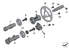 Goto diagram: BMW Classic Motorrad Modell R 1200 R (0A04, 0A14)( ECE ), Category 11.31 Camshaft, sprocket, intermediate shaft :: Diagram: 11_5220