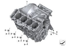 Goto diagram: BMW Classic Motorbike Model S 1000 XR (0D23)( BRA ), Category 11.11 Engine housing :: Diagram: 11_6399