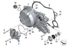Goto diagram: BMW Classic Motorrad Modell G 310 GS (0G22)( BRA ), Category 11.14 Engine housing cover, right :: Diagram: 11_6628