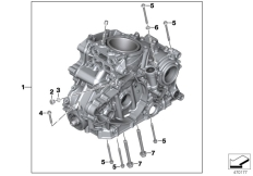 Goto diagram: BMW Classic Motorrad Modell G 310 GS (0G02, 0G12)( USA ), Category 11.11 Engine housing mounting parts :: Diagram: 11_6637