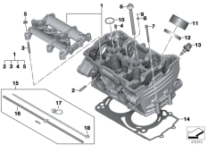 Goto diagram: BMW Classic Motorrad Modell F 800 GS Adve. (0B05, 0B15)( ECE ), Category 11.12 Cylinder head :: Diagram: 11_6653