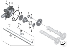 Goto diagram: BMW Classic Motorrad Modell F 700 GS 17 (0B26)( BRA ), Category 11.51 Coolant pump :: Diagram: 11_6656
