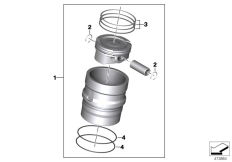 Goto diagram: BMW Classic Motorrad Modell G 310 GS (0G02, 0G12)( USA ), Category 11.25 Piston with rings and pin :: Diagram: 11_6670