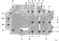Goto diagram: BMW Classic Motorrad Modell F 750 GS (0B08, 0B18)( USA ), Category 11.11 Screw connection, crankcase :: Diagram: 11_6694