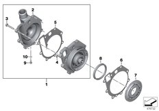 Goto diagram: BMW Classic Motorrad Modell F 750 GS (0B28)( BRA ), Category 11.51 Coolant pump with drive :: Diagram: 11_6705