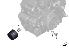 Goto diagram: BMW Classic Motorrad Modell G 310 GS (0G22)( BRA ), Category 11.42 Oil filter :: Diagram: 11_6760