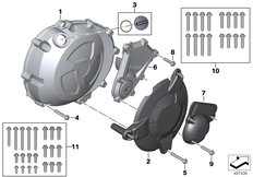 Goto diagram: BMW Classic Motorrad Modell HP4Race (0E31, 0E33)( ECE ), Category 11.14 Housing cover right :: Diagram: 11_6995