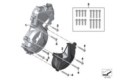 Goto diagram: BMW Classic Motorrad Modell HP4Race (0E31, 0E33)( ECE ), Category 11.14 Housing cover left :: Diagram: 11_6999