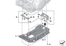 Goto diagram: BMW Classic Motorbike Model F 850 GS (0B29)( BRA ), Category 11.84 Engine underride protection plastic :: Diagram: 11_7061