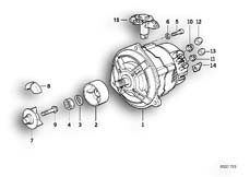 Goto diagram: BMW Classic Motorbike Model K 75 85 (0562,0571)( ECE ), Category 12.10 Alternator :: Diagram: 12S0771