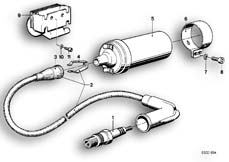 Goto diagram: BMW Classic Motorbike Model R65( USA ), Category 12.05 SPARK PLUG/IGNITION WIRE/IGNITION COIL :: Diagram: 12_0742