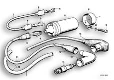 Goto diagram: BMW Classic Motorbike Model R75/5( ECE ), Category 12.05 SPARK PLUG/IGNITION WIRE/IGNITION COIL :: Diagram: 12_0744