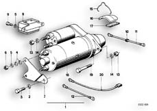 Goto diagram: BMW Classic Motorbike Model R90/6( ECE ), Category 12.15 INSTALLING SET STARTER MOTOR :: Diagram: 12_0746