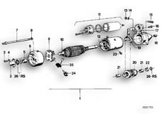 Goto diagram: BMW Classic Motorbike Model R 75 /7( ECE ), Category 12.15 STARTER PARTS :: Diagram: 12_0748