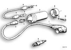 Goto diagram: BMW Classic Motorbike Model R 100 S( ECE ), Category 12.05 SPARK PLUG/IGNITION WIRE/IGNITION COIL :: Diagram: 12_0749