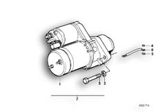 Goto diagram: BMW Classic Motorbike Model R 100 S( ECE ), Category 12.15 Starter :: Diagram: 12_0761