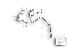 Goto diagram: BMW Classic Motorbike Model F 650 ST 97 (0163,0168)( ECE ), Category 12.12 IGNITION SYSTEM :: Diagram: 12_0774