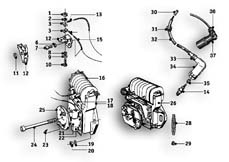 Goto diagram: BMW Classic Motorbike Model R69 S( ECE ), Category 12.05 IGNITION SYSTEM :: Diagram: 12_0975