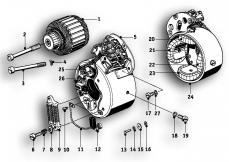 Goto diagram: BMW Classic Motorbike Model R69 S( ECE ), Category 12.10 Alternator :: Diagram: 12_0977