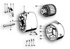 Goto diagram: BMW Classic Motorrad Modell R69 S( ECE ), Category 12.10 Alternator :: Diagram: 12_1003
