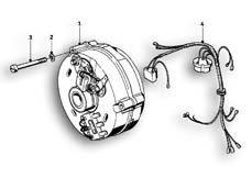 Goto diagram: BMW Classic Motorrad Modell R69 S( ECE ), Category 12.10 Alternator :: Diagram: 12_1005