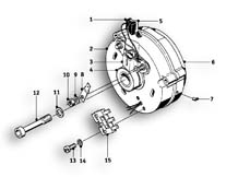 Goto diagram: BMW Classic Motorbike Model R69 S( ECE ), Category 12.10 Alternator :: Diagram: 12_1006