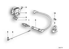 Goto diagram: BMW Classic Motorbike Model R 850 RT 02 (0417)( ECE ), Category 12.12 IGNITION SYSTEM-PLUG/PLUG/IGNITION COIL :: Diagram: 12_1230