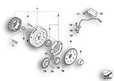 Goto diagram: BMW Classic Motorrad Modell F 800 GS Adve. (0B05, 0B15)( ECE ), Category 12.31 Alternator :: Diagram: 12_1397
