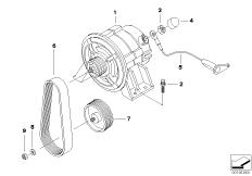 Goto diagram: BMW Classic Motorbike Model R 1200 R 06 (0378,0398)( USA ), Category 12.31 Alternator :: Diagram: 12_1435