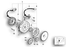 Goto diagram: BMW Classic Motorbike Model G 650 GS 09 (0178,0179)( ECE ), Category 12.31 Alternator :: Diagram: 12_1468