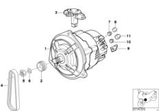 Goto diagram: BMW Classic Motorbike Model R 1200 C Indep. 00 (0405,0433)( ECE ), Category 12.31 Alternator :: Diagram: 12_1473