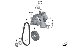 Goto diagram: BMW Classic Motorrad Modell R nineT Pure (0J11, 0J13)( USA ), Category 12.31 Alternator with motor and mounting :: Diagram: 12_2111
