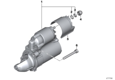 Goto diagram: BMW Classic Motorbike Model R 900 RT 05 SF (0367,0387)( ECE ), Category 12.41 Starter motor Valeo :: Diagram: 12_2114