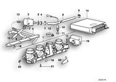 Goto diagram: BMW Classic Motorbike Model K 100 RS (0523,0533)( USA ), Category 13.15 THROTTLE HOUSING ASSY/CONTROL UNIT :: Diagram: 13S0522